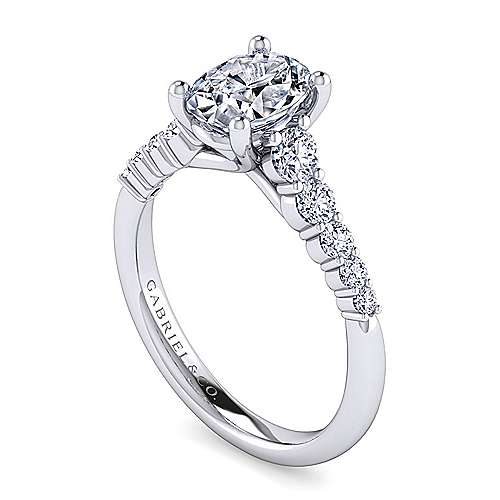 Reed 14k White Gold Oval Straight Engagement Ring