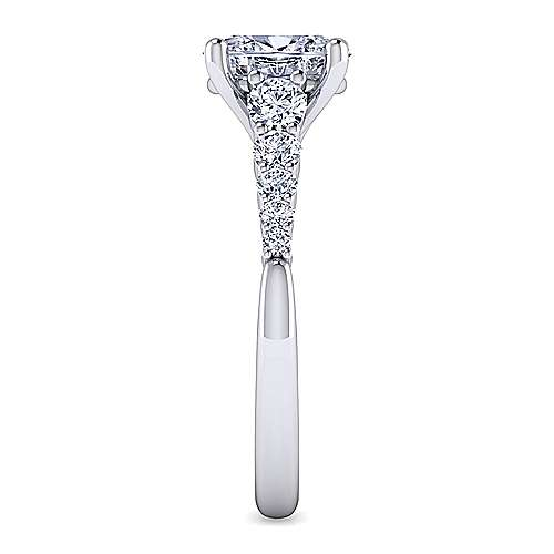 Reed 14k White Gold Oval Straight Engagement Ring angle 5