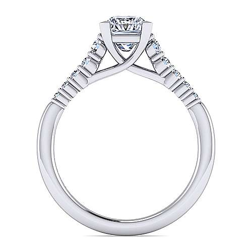 Reed 14k White Gold Princess Cut Straight Engagement Ring angle 2