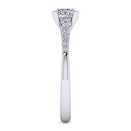 Reed 14k White Gold Princess Cut Straight Engagement Ring angle 5