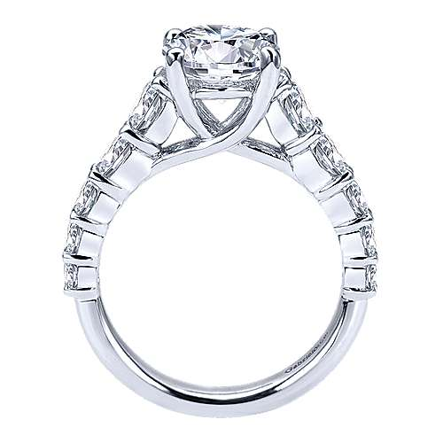Reed 14k White Gold Round Straight Engagement Ring