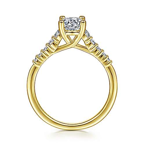 Reed 14k Yellow Gold Round Straight Engagement Ring