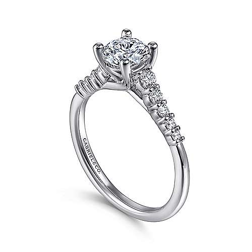 Reed Platinum Round Straight Engagement Ring
