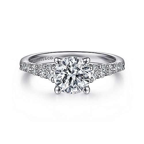 Reed Platinum Round Straight Engagement Ring angle 1