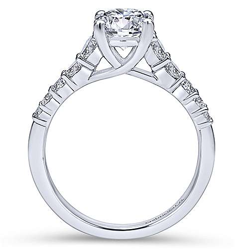 Reed Platinum Round Straight Engagement Ring angle 2