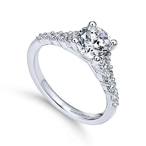 Reed Platinum Round Straight Engagement Ring angle 3