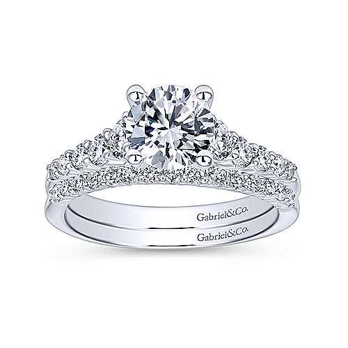 Reed Platinum Round Straight Engagement Ring angle 4