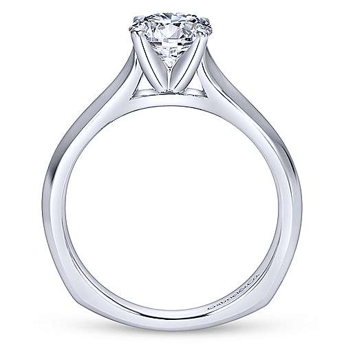 Rina 14k White Gold Round Solitaire Engagement Ring