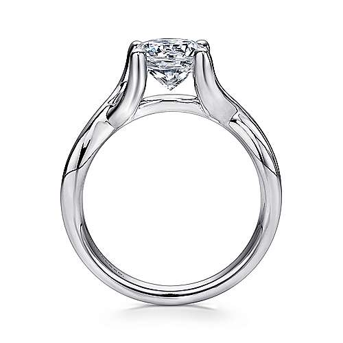 Robin 14k White Gold Round Solitaire Engagement Ring