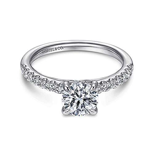 Gabriel - Ronan Platinum Round Straight Engagement Ring