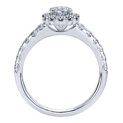 Rosalyn 14k White Gold Round Halo Engagement Ring
