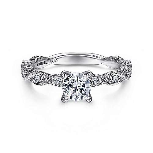 Gabriel - Sadie 14k White Gold Straight Engagement Ring