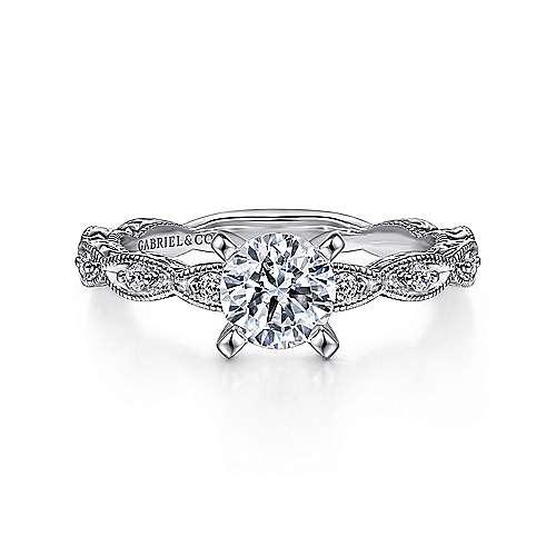 Gabriel - Sadie 14k White Gold Straight Engagement Ring