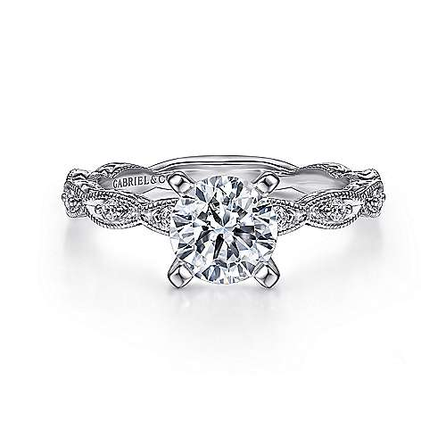 Gabriel - Sadie Platinum Round Straight Engagement Ring