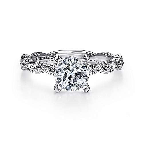 Gabriel - Sadie Platinum Round Straight Engagement Ring