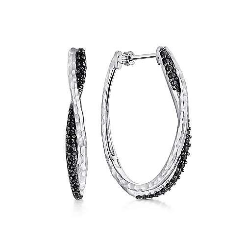 Silver 35MM Fashion Earrings