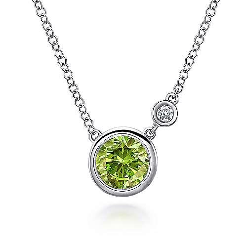 Gabriel - 925 Silver Color Solitaire Fashion Necklace