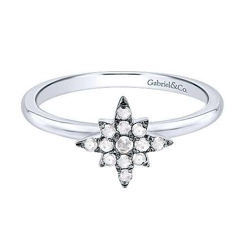 Gabriel - Silver Shadow Play Diamond Ladys' Ring