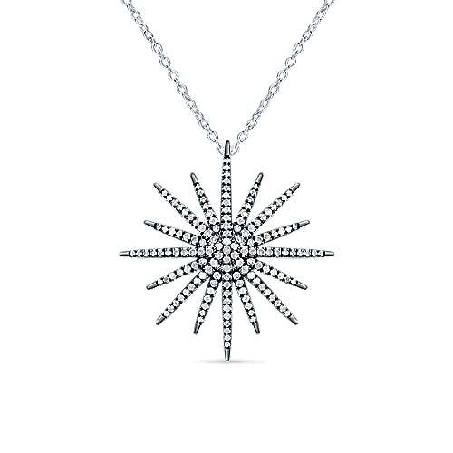 Gabriel - Silver Shadow Play Diamond Necklace