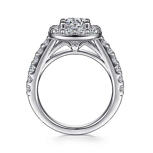Skylar 14k White Gold Round Halo Engagement Ring angle 2