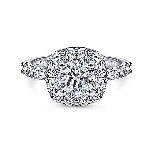 Gabriel - Skylar Platinum Round Halo Engagement Ring