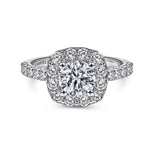 Gabriel - Skylar Platinum Round Halo Engagement Ring
