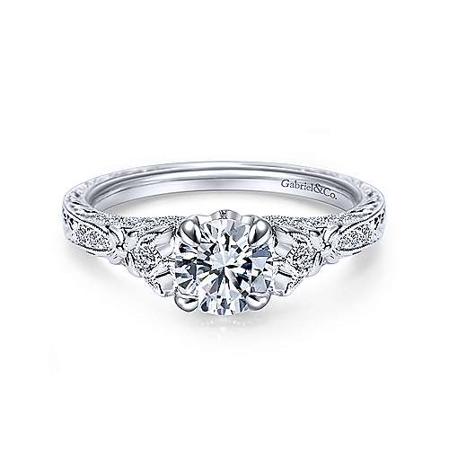 Gabriel - Soar Platinum Round Straight Engagement Ring