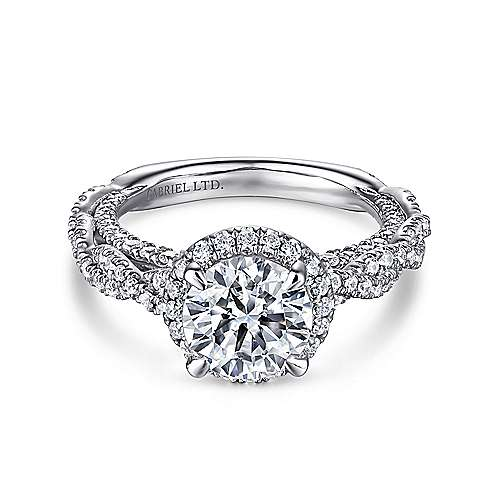 Gabriel - Soledad Platinum Round Halo Engagement Ring