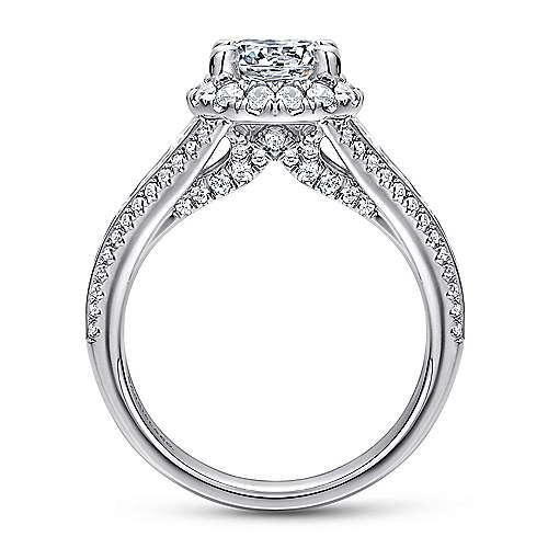 Sorrel 14k White Gold Round Halo Engagement Ring angle 2