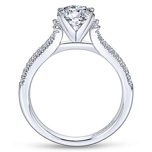 Talisa 14k White Gold Round Split Shank Engagement Ring angle 2