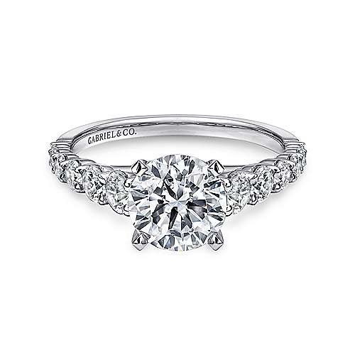 Gabriel - Taylor Platinum Round Straight Engagement Ring