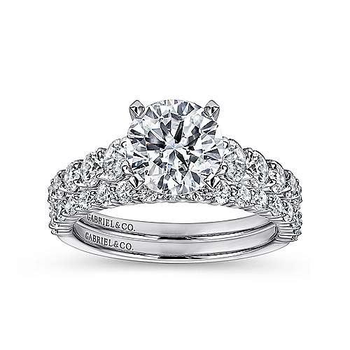 Taylor Platinum Round Straight Engagement Ring