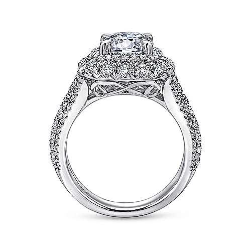 Vanora 18k White Gold Round Halo Engagement Ring angle 2