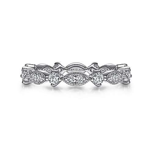 Gabriel - Vintage 14k White Gold Eternity Band