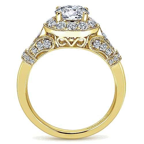 Whitney 14k Yellow Gold Round Halo Engagement Ring
