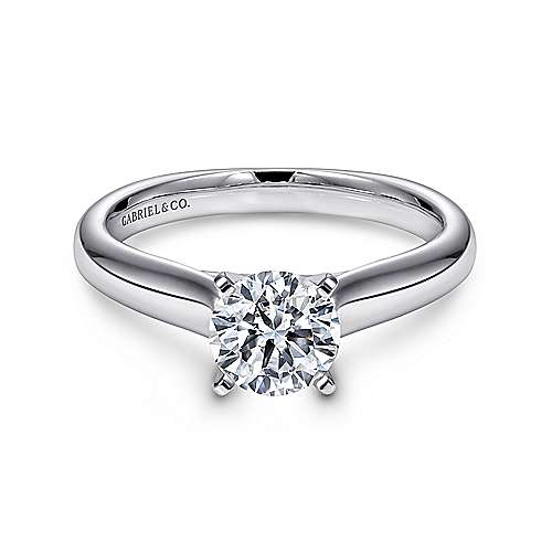 Gabriel - Winter 14k White Gold Round Solitaire Engagement Ring