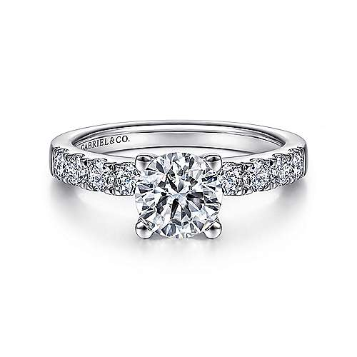 Gabriel - Wyatt Platinum Round Straight Engagement Ring