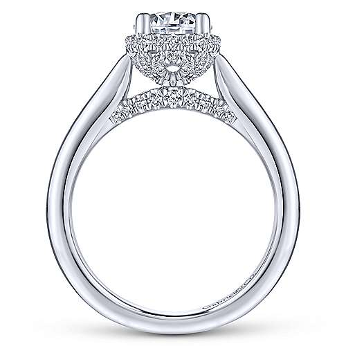 Zaria 14k White Gold Round Straight Engagement Ring angle 2
