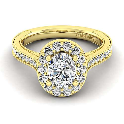 Gabriel - Zelda 14k Yellow Gold Oval Halo Engagement Ring