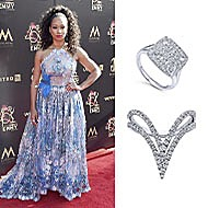 June 2019 Actress Monique Coleman wearing Gabriel & Co to the 46th Annual Daytime Emmy Awards