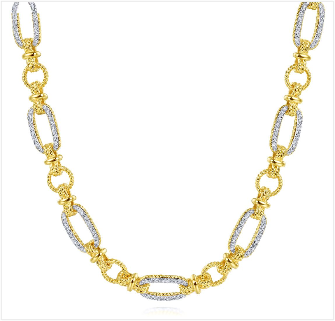 Yellow/White Gold Diamond Nacklace