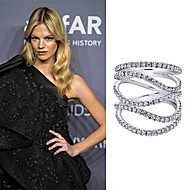 Model Nadine Leopold wearing Gabriel NY to the amfAR New York Gala