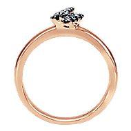 14K Rose Gold Black  Fashion Ladies' Ring
