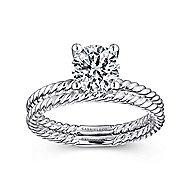 14K W.Gold Diamond Eng Ring