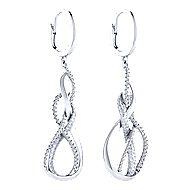14K White Gold Diamond Fashion Drop Earrings