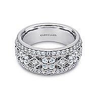 14K White Gold Diamond Ladies' Ring