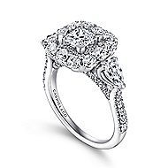 14K White Gold Diamong Engagement Ring