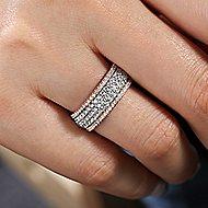 14K White-Pink Gold Fashion Ladies' Ring
