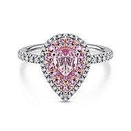 14K White/Rose Gold Engagement Ring