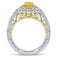 14K White/Yellow Gold Diamond Engagement Ring